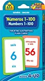 Books : Numbers 1-100 Flash Cards - Bilingual (Spanish Edition)