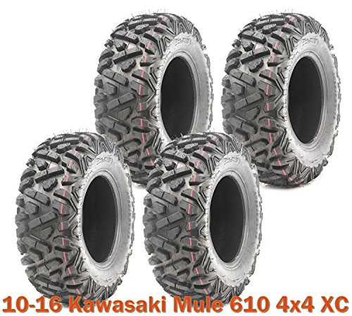 Set of 4 WANDA ATV UTV Tires 26x9-12 for 10-16 Kawasaki Mule 610 4x4 XC (Mule Trailer Kawasaki)