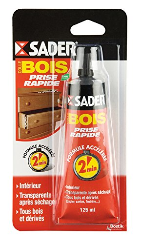 Sader Colle bois rapide Tube 125 ml BOSTIK AT041008