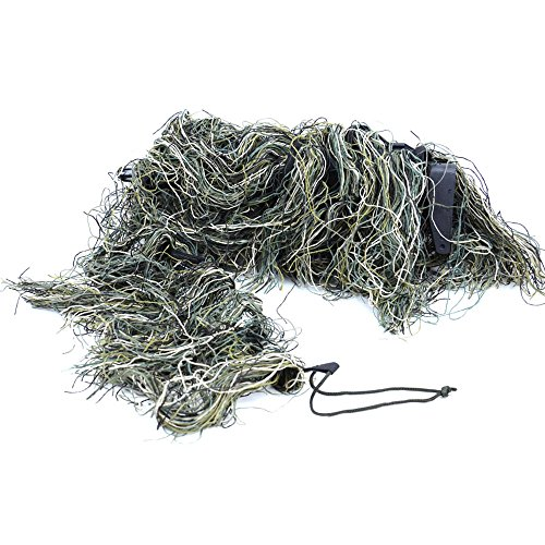 Synthetic Thread Ghillie Rifle Wrap Camouflage Tactical Sniper Ghillie Wrap (Woodland)