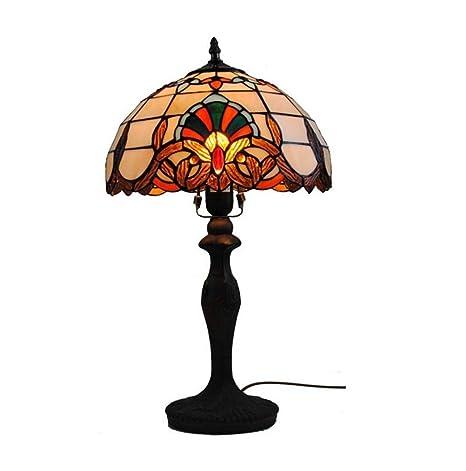 Lámpara de mesa estilo Tiffany, 12 pulgadas sala de estar ...