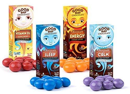 Good Day Chocolate - Sleep - Energy - Calm - Vitamin D3 (Variety Pack)