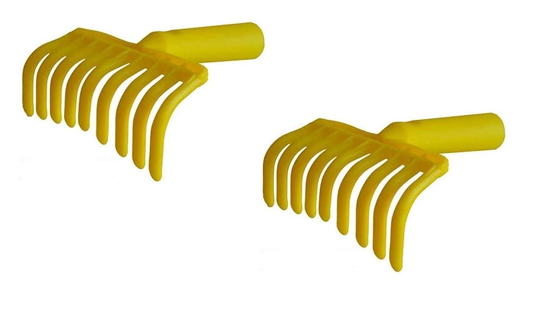 acquaverde 2 Pezzi RASTRELLO Raccolta Olive MANINA 9 Denti CM 14 X 20 con Foro Conico 27 mm per Asta