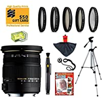 Sigma 17-50mm f/2.8 EX DC OS HSM FLD Large Aperture Zoom Lens with UV, CPL, FLD, ND4,+10 Macro Filters and Bundle for Canon EOS 1DX, 70D, 60D, 60Da, 50D, 1Ds, 7D, 6D, 5D, 5Ds, Rebel T6s, T6i, T5i, T5, T4i, T3i, T3, T2i, T2 and SL1 Digital SLR Cameras