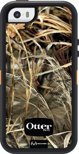 OtterBox DEFENDER SERIES Case for iPhone 5/5s/SE - Retail Packaging - REALTREE MAX 4HD BLAZED (BLAZE ORANGE/BLACK/MAX 4HD (Best Apple Case 5s)