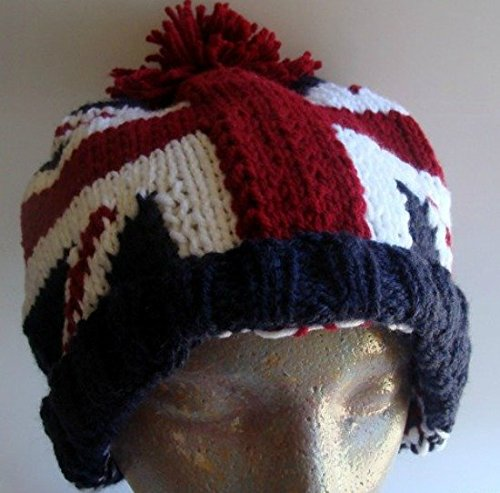 Union Jack British Flag Hand Knitted Hat
