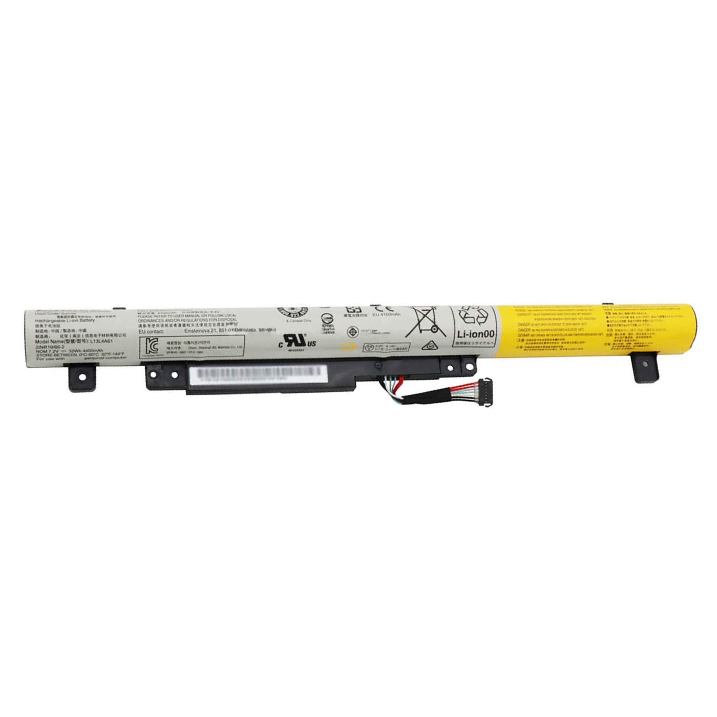 Bateria para Lenovo L13L4A61 7.2V 32Wh 4400mAh Flex2 14 15 15D Series L13M4A61 L13L4E61 2ICR19/66-2 L13S4A61-12-Month