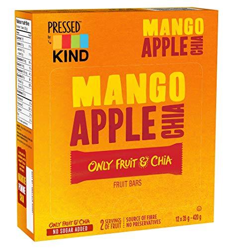 KIND Pressed Mango Apple Chia Bar, 12 Count
