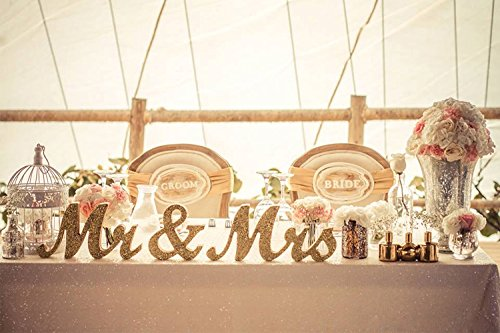 MR MRS Wooden Letters and Just Married Banner Sj01 Just Married Banner Wedding Decoration Wedding Present Silver MEiySH Mr and Mrs Sign
