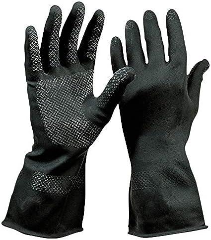7//S lebensmittelgeeignet HandschuhMan Chemikalienbest/ändig Schwarze Gummihandschuhe aus Neopren