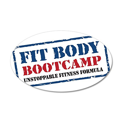 CafePress - Fit Body Boot Camp - 35x21 Oval Wall Decal, Vinyl Wall Peel, Reusable Wall Cling