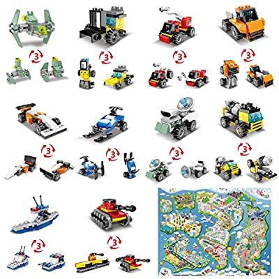 ANGINSTAR Building Blocks Anti-Epidemic Prevention War,Children's Educational Toys 10 Models of 30 Variants 316PCS with Game Carpet Comic Epidemic Prevention Manual: Toys & Games