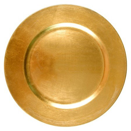 Threshold Round Charger - Polypro Metallic gold Dinner Plates Set of 4  sc 1 st  Amazon.com & Amazon.com : Threshold Round Charger - Polypro Metallic gold Dinner ...