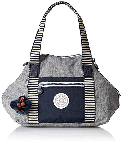 Kipling Art Mini Handbag, Removable, Adjustable Crossbody Strap, Zip Closure, weave combo