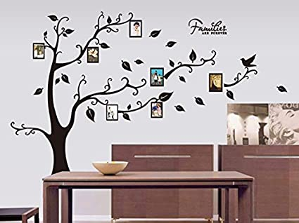 ebc804720 Buy Oren Empower Decorative Black Tree With Photo Frames Pvc Vinyl Large  Wall Sticker (Right Facing