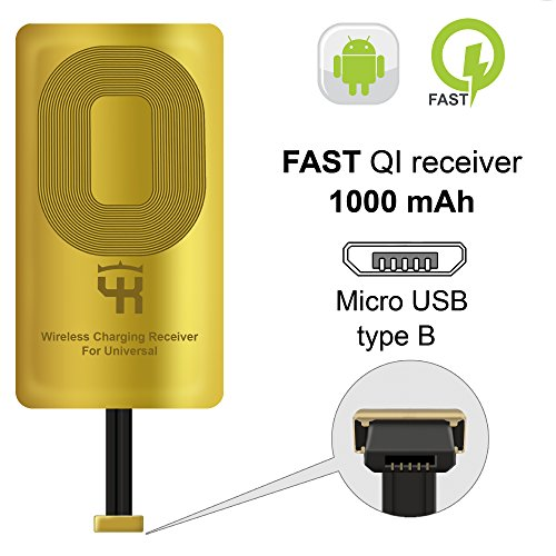 QI Receiver Type B YKing for HTC DESIRE 10 PRO- HTC ONE X9-HTC ONE E9- E9+  ViVo X1–Meizu M5-M3-QI Receiver-QI Receiver Micro USB - QI Wireless