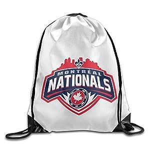 YesYouGO Montreal Nationals Logo Unisex Drawstring Backpacks/Bags