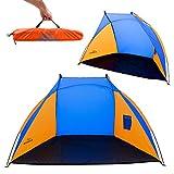 AMANKA Beach Shelter 120x210x120cm fishing tent sunshade windbreak sun dome screen shade UV light protection waterproof