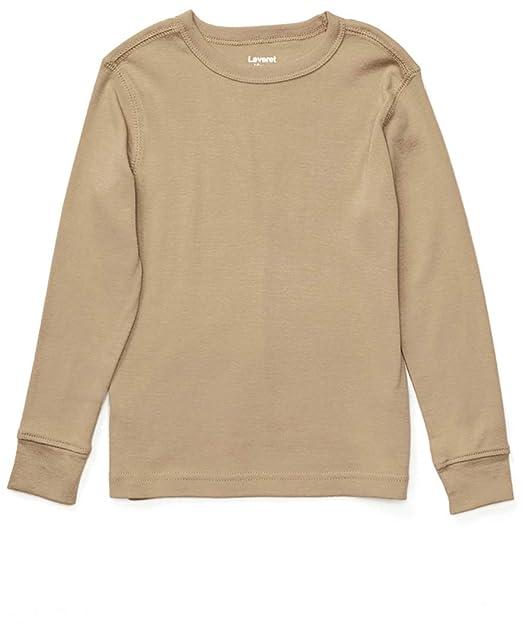 larga años 100 Leveret manga algodón de Beige 2 Camiseta q6E0x