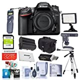Nikon D7200 DX-format DSLR Camera - Bundled w/Camera Case, 32/16GB Class 10 SDHC Cards, Spare Battery, Video Light, Cleaning Kit, Remote Shutter Trigger, Software Package, Tripod, & More