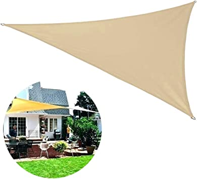JIAYOYO Sun Shade Sail Triangle para Patio Patio Patio Pérgola ...