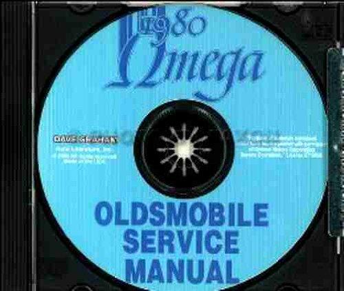 1980 OLDSMOBILE OMEGA FACTORY REPAIR SHOP & SERVICE MANUAL CD 80