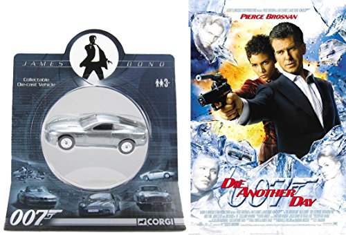Die Another Day DVD & James Bond Aston Martin Vanquish Movie Car Set