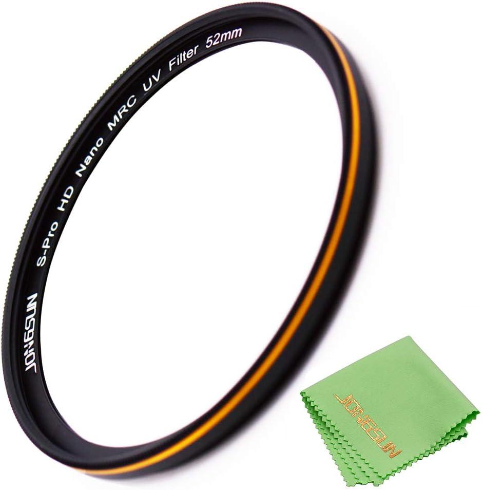 S-Pro HD Nano MRC16 Camera Ultraviolet Protection Filter JONGSUN 72mm UV Filter SCHOTT B270 Lens Cloth Kit Ultra-Slim 16 Layers Multicoated
