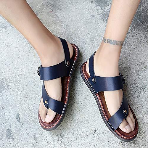 Los EU Antideslizantes 27 Color Azules Sandalia Zapatillas Respirables Aire CM De Zapatos 0 40 De Azul 0 Cuero Al Azul Frescas Libre 24 Hombres tamaño wazgqYax