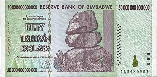PTDirect, LLC. Zimbabwe 50 Trillion Dollars 2008, World Inflation Record, Currency Banknotes - P90 AA