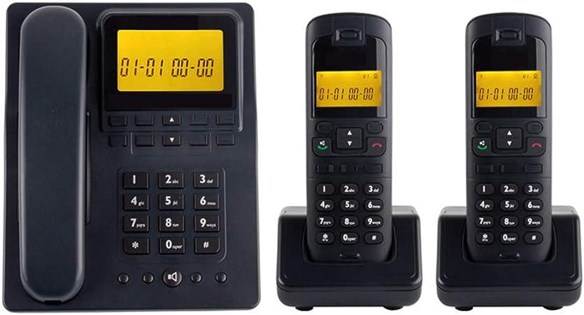 TTBB Teléfono Digital inalámbrico expansible, Auricular de Oficina, uno a Dos, teléfono Fijo, Blanco y Negro, Llamadas con Manos Libres de intercomunicador gratuitas, luz de Fondo de Pantalla Grande: Amazon.es: Hogar
