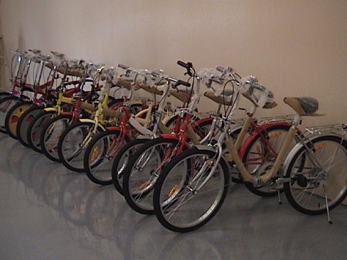 Folding Bike 20 Inchces Color SILVER by BESTCO PRODUCTS (Image #3)
