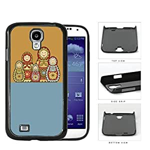 Russian Nesting Dolls Blue And Orange Hard Plastic Snap On Cell Phone Case Samsung Galaxy Note 2 II N7100 WANGJING JINDA