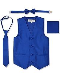 Boys Formal Dupioni Tuxedo Vest Set