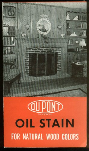 (Du Pont Oil Stain for Natural Wood Colors chip sample folder 1950)