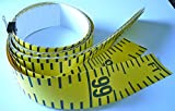 "Floor Tape – Adhesive Backed – 4 Inch Wide X 100 Foot Long – Vertical Up – Fractional – 1"" Grads – Yellow – 16 Pieces"