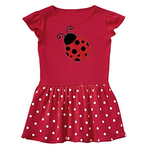inktastic - Ladybug Toddler Dress 4T Red with