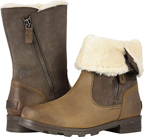 Sorel Womens Emelie Foldover Fleece Winter Snow Waterproof Mid Calf Boot Major (8.5)