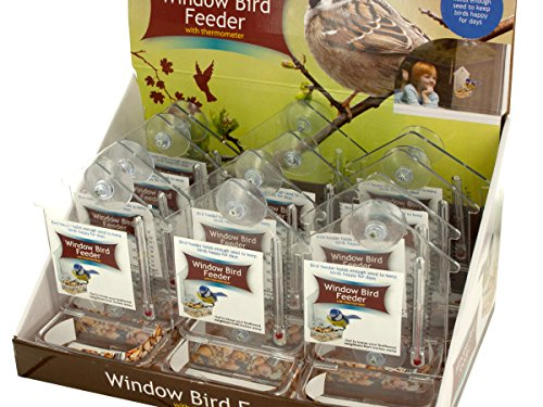 Window Bird Feeder Thermometer Countertop Display - Pack of 60