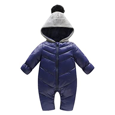 2f31c8c16 Amazon.com  Beiduoxiong Baby Infant Boys Girl Winter Dwon Romper ...