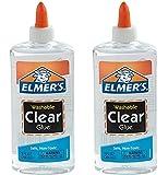 Elmers Liquid School Glue, Washable fJPvFU, 2Pack (5 oz), Clear Glue