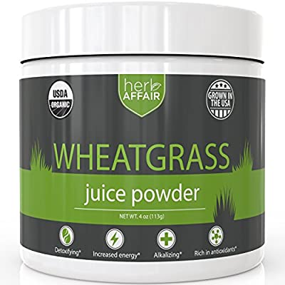 Organic Raw Wheatgrass Juice Powder - Natural Energy Booster, Detoxifier, Weight Loss Aid - Premium US Grown Green Superfood - Rich in Chlorophyll, Vitamins, Minerals & Amino Acids - 45 Servings