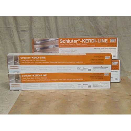 """Linear Floor Drains - Kerdi-line Frameless/tileable Design Grate - 28"""" (Shallow) chic"""