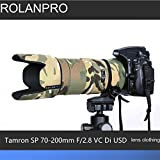 ROLANPRO Lens Clothing Camouflage Rain Cover for Tamron SP 70-200mm F2.8 VC Di USD (A009) Camera Lens Protection Sleeve