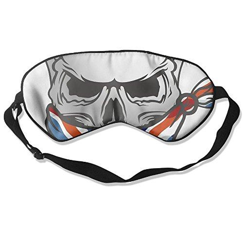 WUGOU Sleep Eye Mask UK Flag Skull Lightweight Soft Blindfold Adjustable Head Strap Eyeshade Travel Eyepatch ()