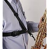 Aibay® Saxophone Strap,black New Adjustable Alto/tenor/baritone Sax Saxophone Harness Shoulder Strap