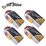 4 PACK TATTU 1550MAH 4S 75C LIPO BATTERY 14.8V XT60 1550 PLUG UAV DRONE FPV HELI AIRPLANE