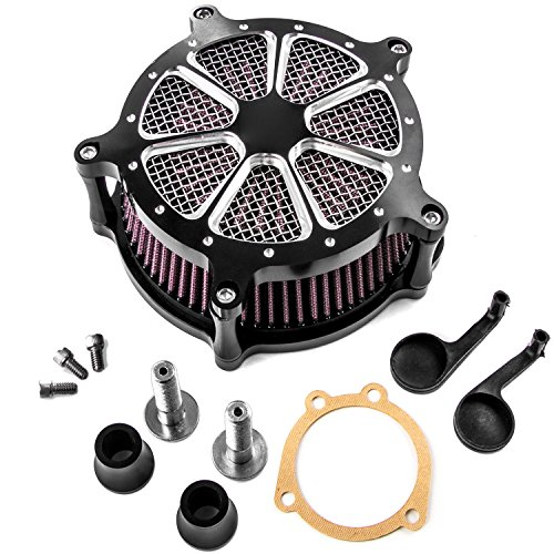 Turbine Edge Cut Air Intake Kit For Harley Sportster XL1200 Iron 883 Forty Eight for Harley Davidson Sportster Nightster XL1200N 2007-2012 ()
