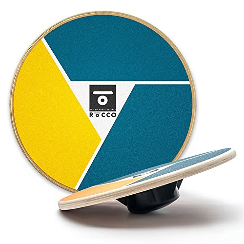 "ROCCO BALANCE Wobble Board + Exercise Video - Core Training, Fitness Equipment - Build Stability, Strength and Flexibility - 15.75"" Diameter"