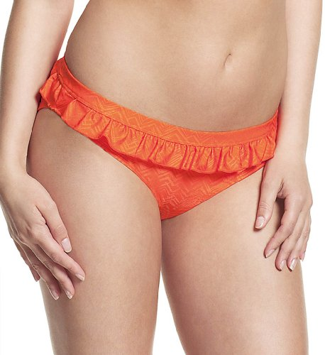 Cleo by Panache Rita Frill Waist Pant Swim Bottom (CW0129) L/Orange Print